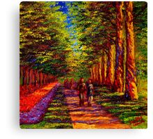 Shady Path in Keukenhof Canvas Print