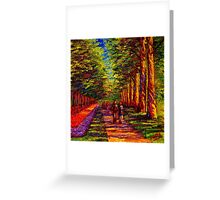 Shady Path in Keukenhof Greeting Card