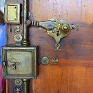 Ornate door locks (La Rochelle) by Christine Oakley