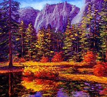 Autumn on the Yosemite River by sesillie