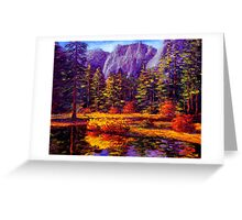 Autumn on the Yosemite River Greeting Card