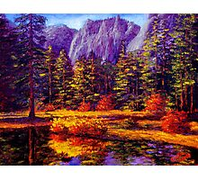 Autumn on the Yosemite River Photographic Print