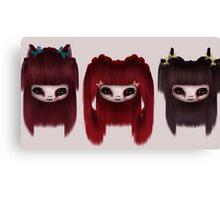 Little Scary Dolls Canvas Print