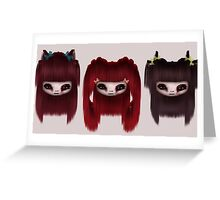 Little Scary Dolls Greeting Card