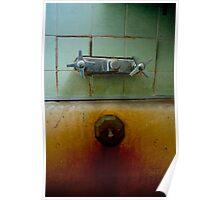 Old Rusty bath tub Poster