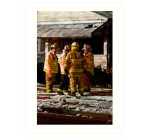 Fireman meeting Art Print