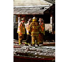 Fireman meeting Photographic Print