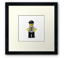 Robber Minifig Framed Print