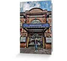 Earl's Court Tube Station Greeting Card