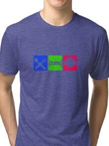 EAT SLEEP LISTEN do something symbol Tri-blend T-Shirt