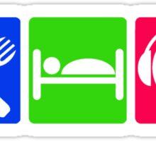 EAT SLEEP LISTEN do something symbol Sticker
