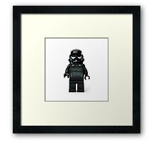 Darth Minifig Framed Print