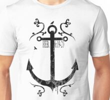 Anchor_Black Unisex T-Shirt