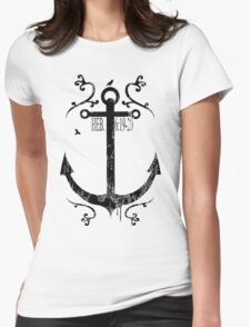 Anchor_Black Womens Fitted T-Shirt