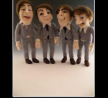 Li'l Beatles - Needle Felted Art Dolls by feltalive