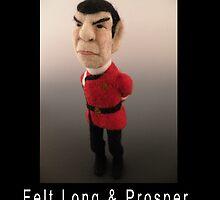 Li'l Spock - Needle Felted Art Doll by feltalive