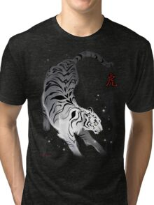 Candle Flies Tiger Tri-blend T-Shirt