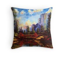 The Bridge in Yosemite Throw Pillow