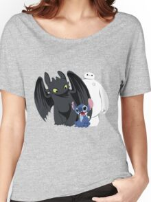 Toothless,Stitch and Baymax Women's Relaxed Fit T-Shirt
