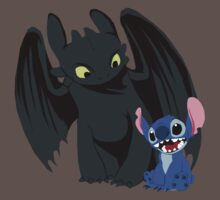 Stitch and Toothless Baby Tee