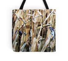 Blue Jays In the Corn Field Tote Bag