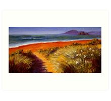 Oregon Path on the Pacific Art Print