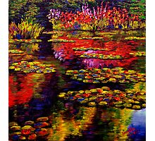 Flowers by Monet's Pond (1502) Photographic Print