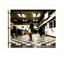 Embankment Tube Station Art Print