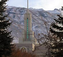 Mt. Timpanogos Temple - Framed in Trees by Ryan Houston