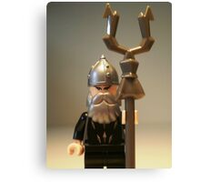 Mongolian Warrior Chief Custom Minifigure Canvas Print