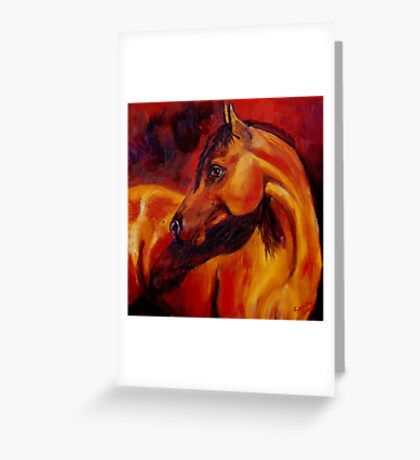 Light on the Horse Greeting Card