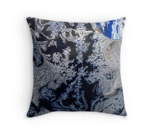 Winter Window Frost II Abstract Throw Pillow