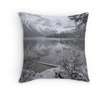 Emerald Lake in Winter  Throw Pillow