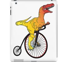 Dinosaur Riding a Penny Farthing iPad Case/Skin