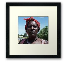 Gulu quarry woman, Uganda Framed Print