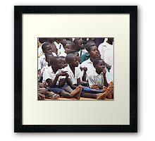 Legs eleven, Uganda Framed Print