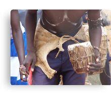 Drum beat, Uganda Metal Print