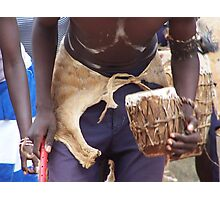 Drum beat, Uganda Photographic Print