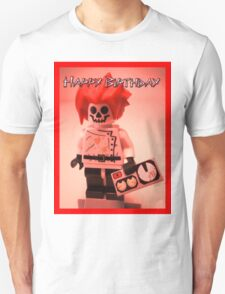 Happy Birthday Greeting Card Professor Boom  T-Shirt
