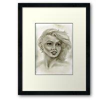 Candle in the Wind - Marilyn Monroe aka Norma Jeane  Framed Print