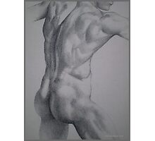 Male Model Pointilism - Nude Photographic Print
