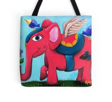 Pink Flying Elephant Tote Bag