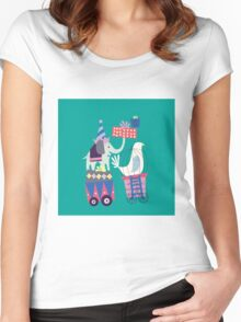 Fun Circus Elephant Women's Fitted Scoop T-Shirt