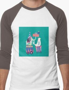 Fun Circus Elephant Men's Baseball ¾ T-Shirt