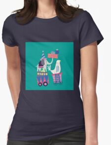 Fun Circus Elephant Womens Fitted T-Shirt