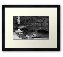 Ice In The Canyon Framed Print