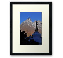 Stupa near Mongo Framed Print