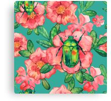 - Wild rose pattern - Canvas Print