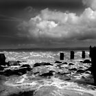 Pier remains, St Ives, Cornwall by Dave Sayer