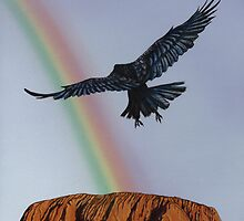 Treasure Seeker #19 (Crow Raven Uluru) by artbyakiko